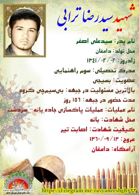 شناسنامه شهید سید رضا ترابی