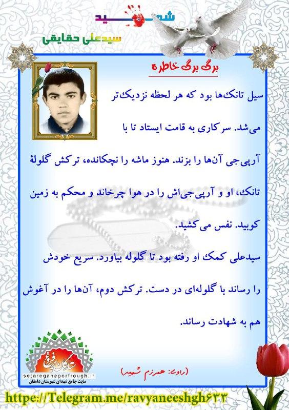 خاطرات شهید سید علی حقایقی