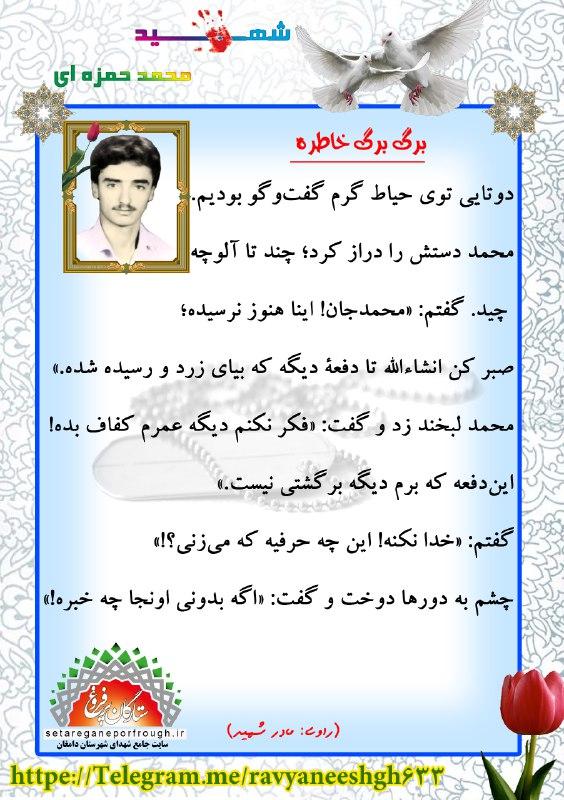 خاطرات شهید محمد حمزه ای