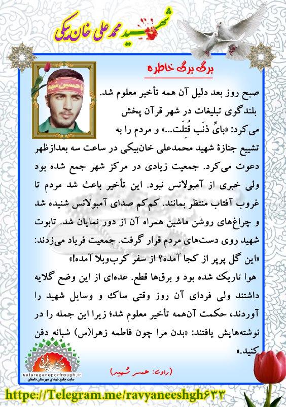 خاطرات شهید محمدعلی خان بیکی