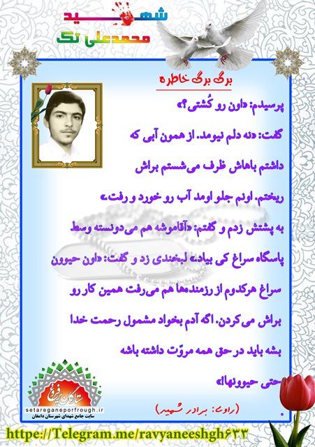 خاطرات شهید محمدعلی تک