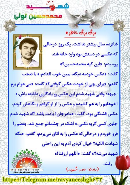 خاطرات شهید محمدحسین تولی