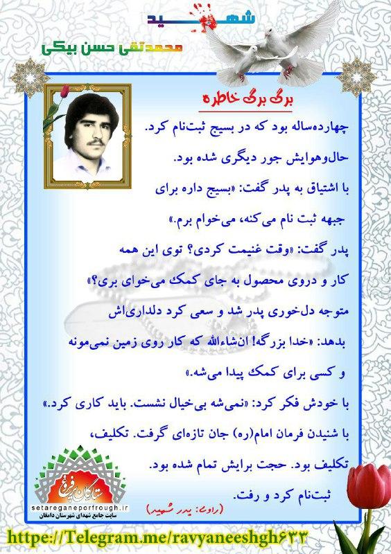 خاطرات شهید محمدتقی حسن بیکی