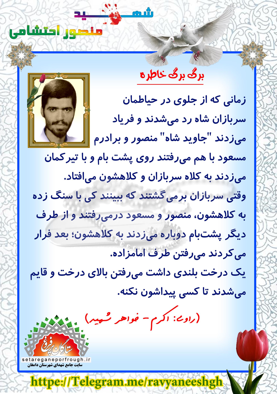 خاطرات شهید منصور احتشامی