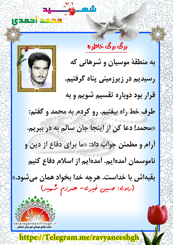خاطرات شهید محمد احمدی