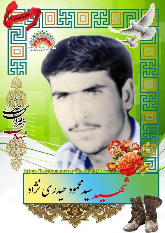 شهید سید محمود حیدری نژاد