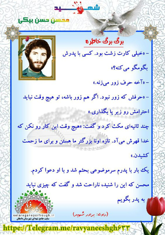خاطرات شهید محسن حسن بیکی