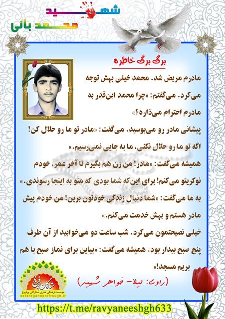 خاطرات شهید محمد بانی
