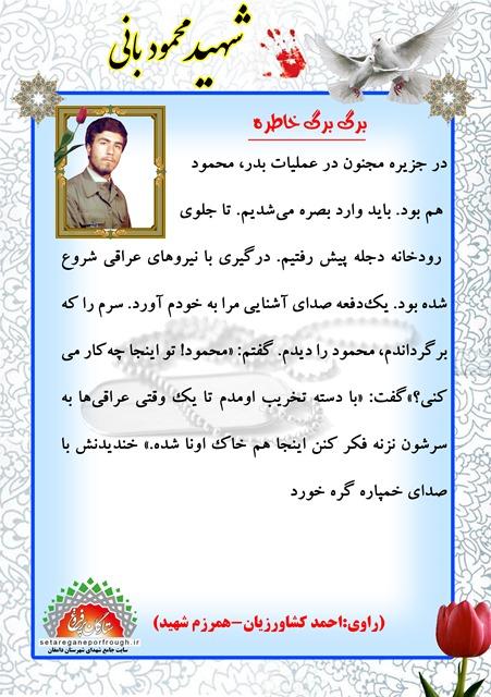 خاطرات شهید محمود بانی