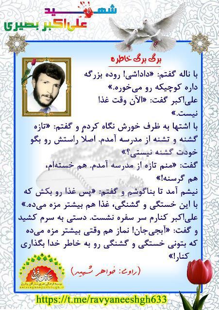 خاطرات شهید علی اکبر بصیری
