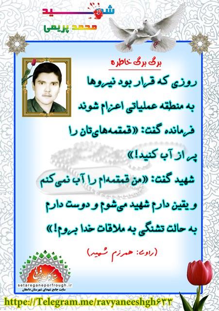 خاطرات شهید محمد پریمی