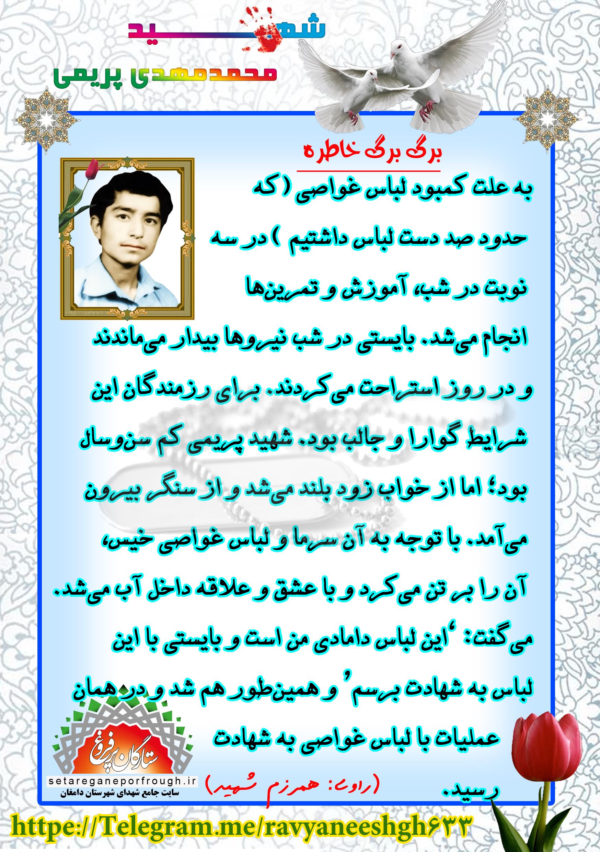 خاطرات شهید محمدمهدی پریمی