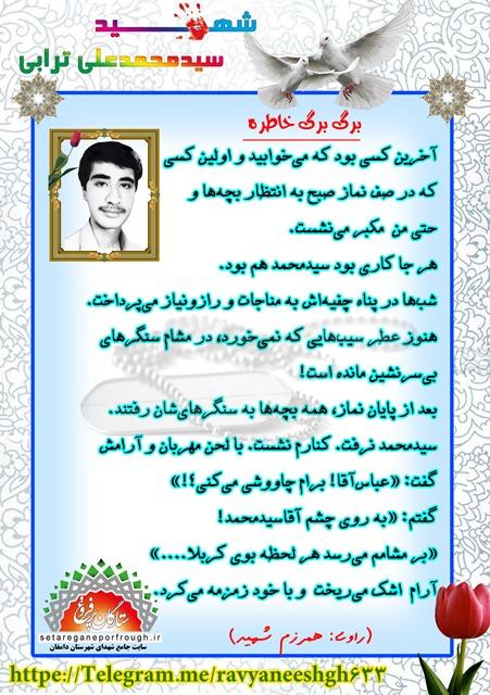 خاطرات شهید سید محمدعلی ترابی