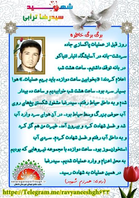 خاطرات شهید سید رضا ترابی