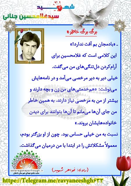 خاطرات سید غلامحسین جنانی