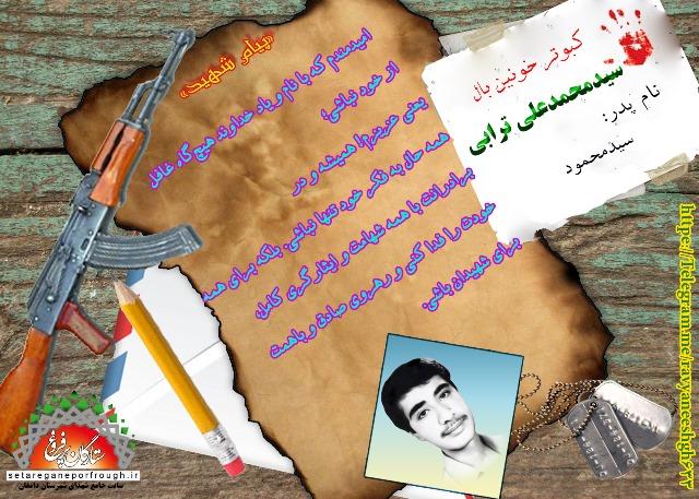 پیام و گزیده ای از وصیت نامه شهید سید محمدعلی ترابی