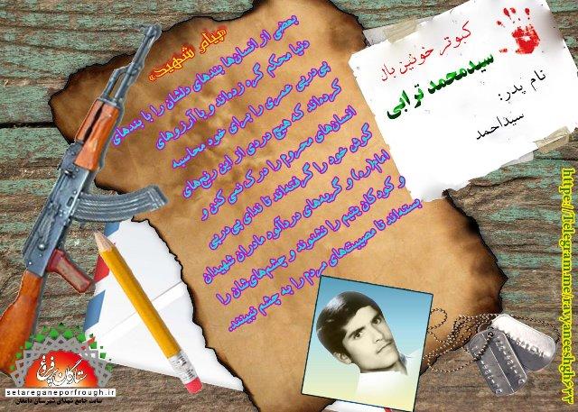 پیام و گزیده ای از وصیت نامه شهید سید محمد ترابی