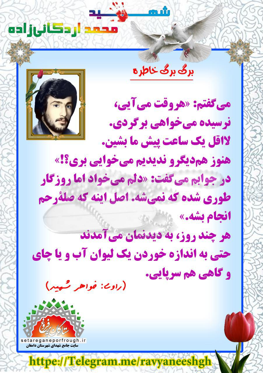خاطرات شهید محمد اردکانیزاده