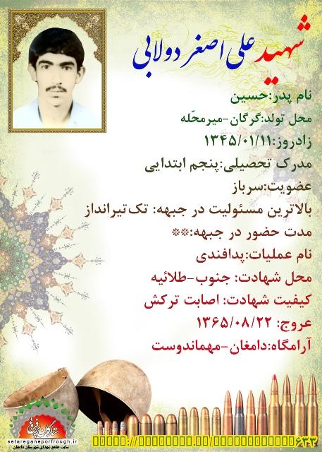 شناسنامه شهید علی اصغر دولابی