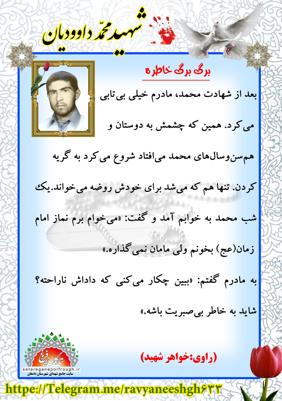 خاطرات شهید محمد داوودیان