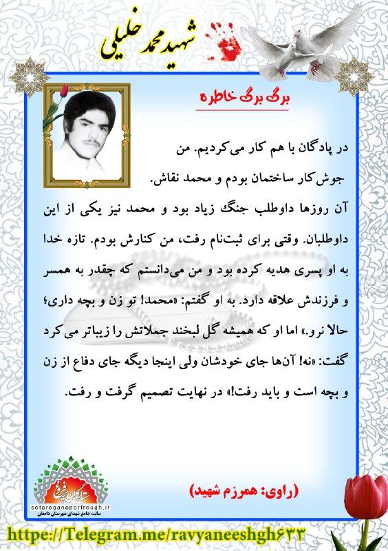 خاطرات شهید محمد خلیلی